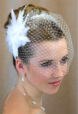 FEATHER & RHINESTONE FASCINATOR by LC BRIDAL