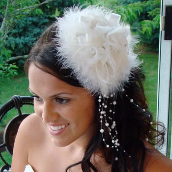 FEATHER HAT 'SEX IN THE CITY' by WEDDING FACTORY DIRECT