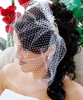 BIRDCAGE WITH PEARLS & RHINESTONES  BY WEDDING FACTORY DIRECT