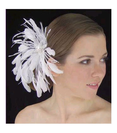 FEATHER FASCINATOR by LC BRIDAL