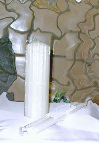 WHITE HAND DIPPED CANDLES