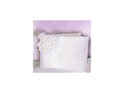WHITE SATIN GUEST BOOK