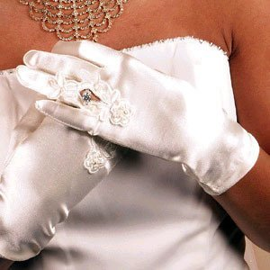 WRIST RING FINGER GLOVE  BY WEDDING FACTORY DIRECT