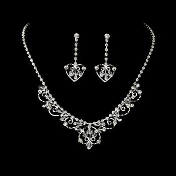 Fabulous Silver Clear Rhinestone Jewelry Set