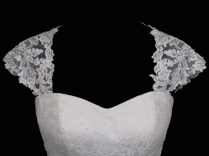 Lace with Rhinestones Shoulder Straps