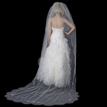 Double Layer Cathedral Length with Sparkling Accents by WEDDING FACTORY DIRECT