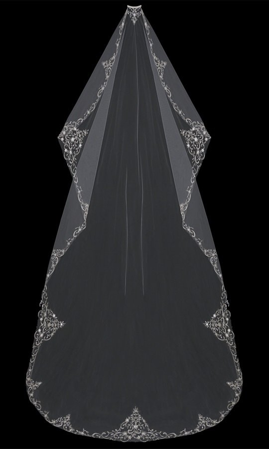 Mantilla Cut  Cathedral Veil by ENVOGUE ACCESSORY'S