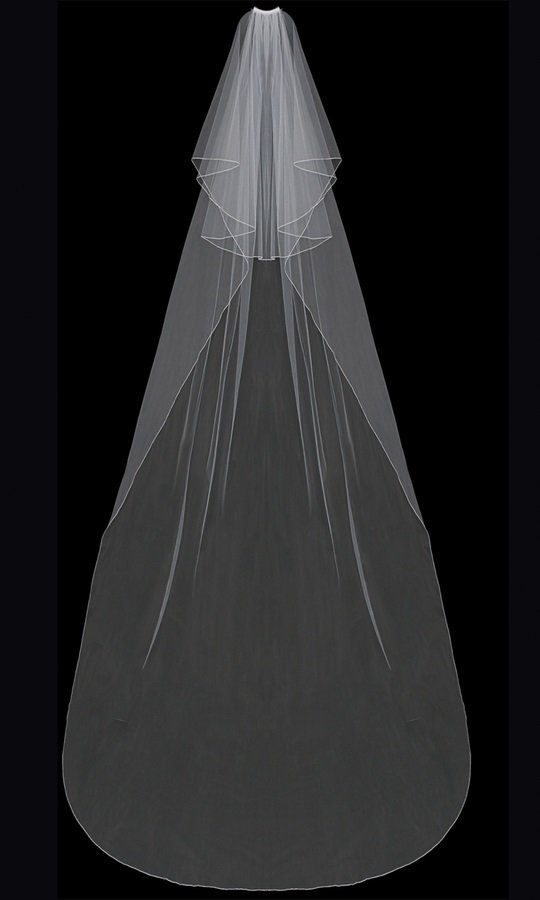 Circular Cut Cathedral Veil with blusher by ENVOGUE ACCESSORY'S