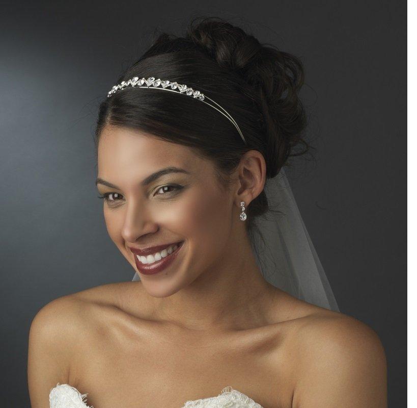 Silver Clear Tiara Headpiece