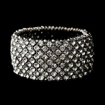 Silver Clear Stretch Bracelet