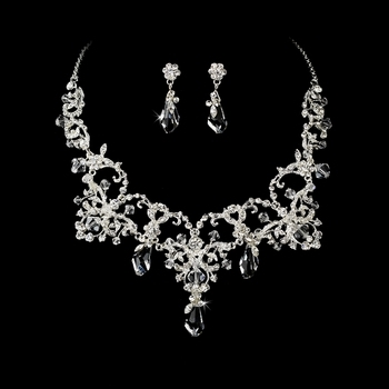 Couture Crystal Necklace & Earring Set