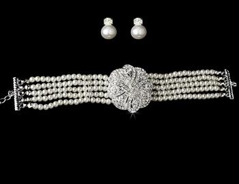 Pearl and Austrian Crystal Bridal