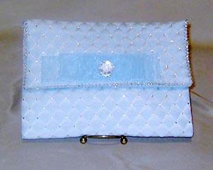 BLUE DIAMOND CLUTCH PURSE