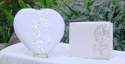 GUEST BOOKS: SQUARE & HEART SHAPES
