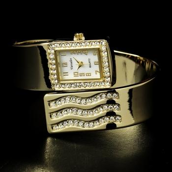 Gold Rhinestone Crystal Bridal Watch