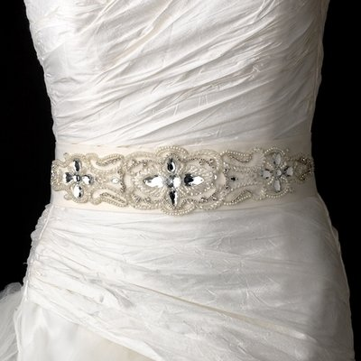 MIX STONES & PEARLS WEDDING BELT