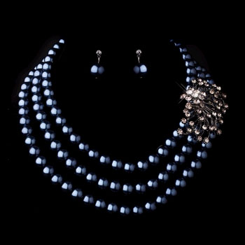 SILVER NECKLACE EARRING SET