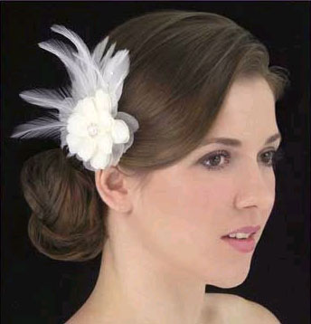 NYLON & SILK HAIR FLOWER