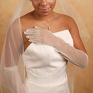 SHEER GLOVES ABOVE THE ELBOW  BY WEDDING FACTORY DIRECT