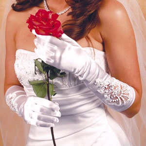 FULL FINGER GLOVE  BY WEDDING FACTORY DIRECT