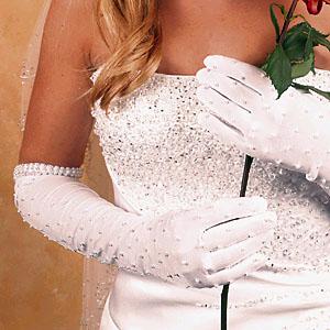 MATTE SATIN GLOVE  BY WEDDING FACTORY DIRECT