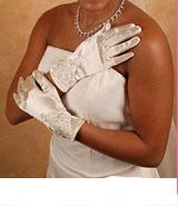 WRIST FULL FINGER GLOVES  BY WEDDING FACTORY DIRECT