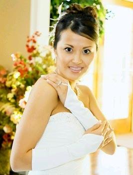 ELEGANT FINGERLESS GLOVE  BY WEDDING FACTORY DIRECT