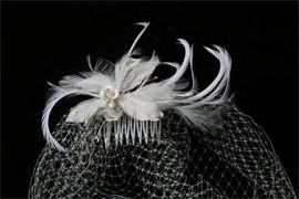 CAGE VEIL AND A DELICATE FLOWER by ENVOGUE ACCESSORY'S