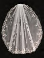 Veil embroidered edge