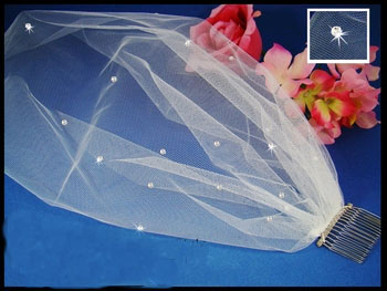 BLUSHER FACE VEIL   by WEDDING FACTORY DIRECT