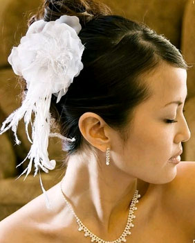 FEATHER FASCINATOR by WEDDING FACTORY DIRECT