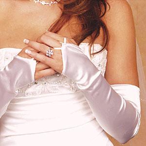 FINGERLESS OPERA LENGTH GLOVES  BY WEDDING FACTORY DIRECT