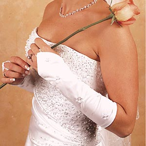 FINGERLESS BRIDAL GLOVES  BY WEDDING FACTORY DIRECT