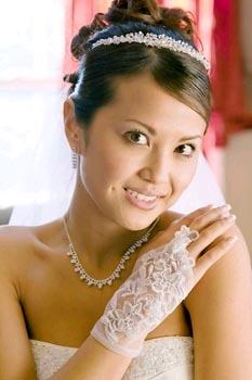 SHEER WRIST GLOVE  BY WEDDING FACTORY DIRECT