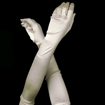 IVORY BRIDESMAID GLOVES BY WEDDING FACTORY DIRECT