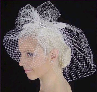 FRENCH NETTING BIRD CAGE  BY LC BRIDAL