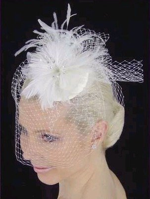 FEATHER HAT & FRENCH BIRDCAGE by LC BRIDAL