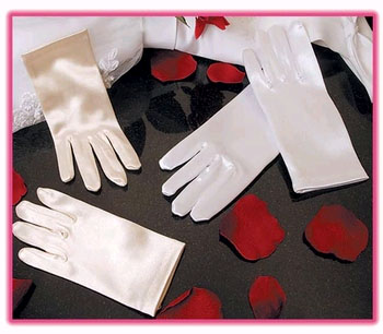 SATIN WRIST GLOVES