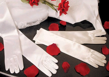 SATIN ELBOW GLOVES