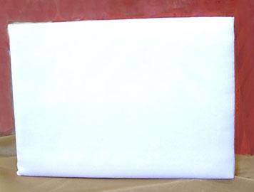 WHITE SATIN GUEST BOOK
