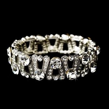 Silver Clear Bracelet