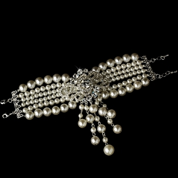 Bracelet Silver Ivory Clear