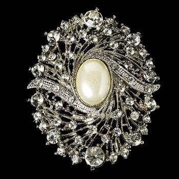Elegant Vintage Crystal Bridal Pin