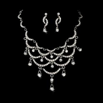 Elegant Vintage Swirl Jewelry Set
