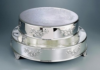 "14""& 18"" Round Wedding Cake Tableau Stand"