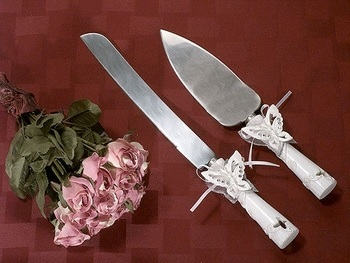 Floral Butterfly Cake Server