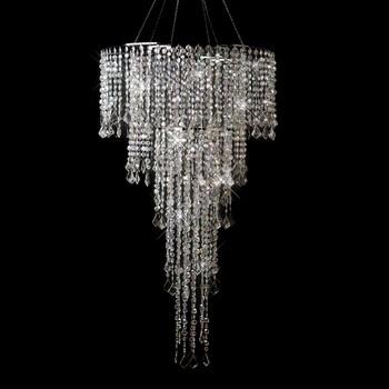 Multi Diamond Cut Beaded Crystal Chandelier