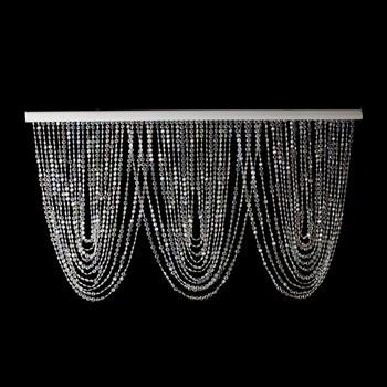 Iridescent Crystal Beaded Curtain Swag