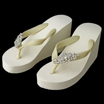 Art Deco Rhinestone High Wedge