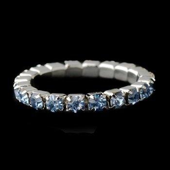 Stretchy Silver Rhinestone Toe Ring